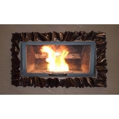 Frame design WROUGHT IRON for fireplace with or without LED. Customize creations. 400 Wrought Iron, Articles, Led, Frame, Design, Home Decor, Bead, Picture Frame, Decoration Home