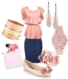 Pretty in Pink, created by littleolivia on Polyvore