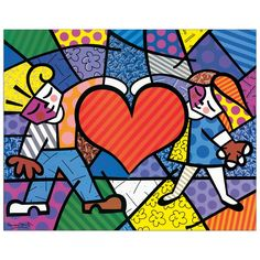 BRITTO - Heart Kids 70x55 cm #artprints #interior #design #art #print #iloveart #followart #artist #fineart #artwit  Scopri Descrizione e Prezzo http://www.artopweb.com/categorie/arte-moderna/EC18436