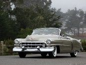 """1952 Cadillac Roadster, prototype started as 51 Series 62 Coupe, 10"""" shorter, disappearing top."""