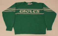 """#want #want #want """"Philadelphia Eagles Cliff Engle Vintage NFL Sweater Size Large Parcells Ditka 
