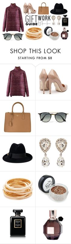 """""""Gift"""" by dalili ❤ liked on Polyvore featuring Rupert Sanderson, Prada, Ray-Ban, Gucci, Dolce&Gabbana, Kenneth Jay Lane, Chanel, Viktor & Rolf and giftguide"""
