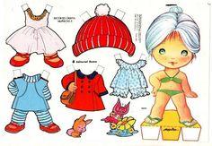 muñecas de papel recortables