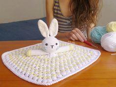 Crochet Bib, Developmental Toys, Baby Rattle, Amigurumi Toys, Baby Toys, Nursery Decor, Baby Shower Gifts, Free Pattern, Crochet Patterns