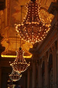 Chandeliers at Teatro Colon, Buenos Aires, Argentina submitted… Types Of Lighting, Lighting Design, Persian Princess, All Of The Lights, Chandelier Lighting, Chandeliers, Hanging Chandelier, Hanging Lights, Home Interior