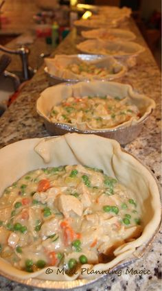 Freezable Chicken Pot Pie | mealplanningmagic.com | @mealplanmom