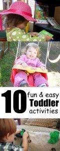 10 Fun (and easy) Toddler Activities.  Lots of great ideas on this site - love the lesson plan idea.