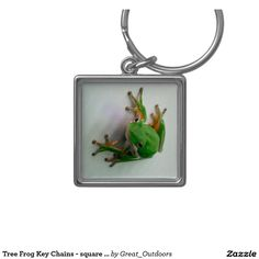 Tree Frog Key Chains - square or round