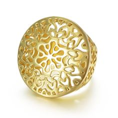 Gold Color Circle Round Ring