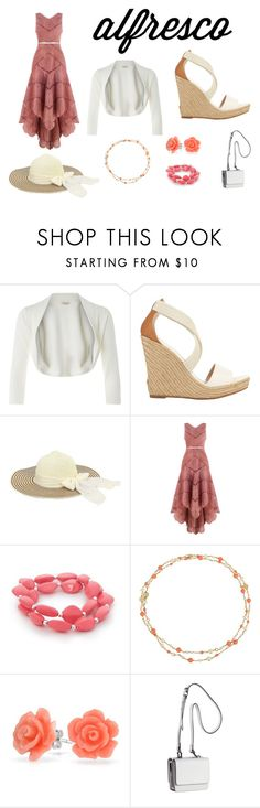 """""""Picnic in Pink"""" by kilashandra ❤ liked on Polyvore featuring Monsoon, Jean-Michel Cazabat, Zimmermann, Kim Rogers, Tory Burch, Bling Jewelry and Kendall + Kylie"""