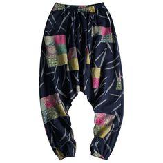 Harem Cotton Linen Big Crotch Trousers Wide Leg Loose Casual Hip-hop L – Benovafashion Harem Shorts, Loose Pants, Navy And Green, Linen Pants, Wide Leg Trousers, Jogger Pants, Fashion Pants, Cotton Linen, Street Wear