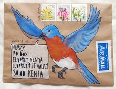 A gallery of mail-art created by me when I was just starting out. Mostly snail-mail envelopes on kraft paper, painted in gouache and watercolour. Pen Pal Letters, Letter Art, Letter Writing, Blog Art, Mail Art Envelopes, Tim Holtz, Fun Mail, Diy Envelope, Decorated Envelopes