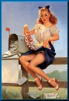 Retro Deco Lingerie Up Skirt Pin Up Elvgren