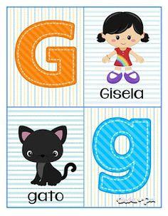 Tarjetas de abecedario para aprender las letras Alphabet Letters Images, Alphabet Cards, Pre Kindergarten, Kindergarten Worksheets, Learning Numbers Preschool, School Labels, Kids Rugs, Activities, Education