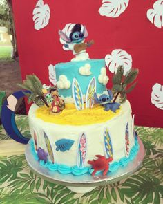 Lilo and stitch birthday cake  #twotier #liloandstitchparty #stitch #lilo