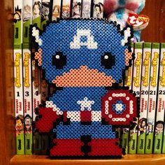 Captain America hama beads by sanddunes1990