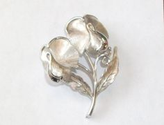 Vintage Silver Tone Signed TRIFARI Double Flower & by feathersoup, $17.00  SOLD MAY 2014