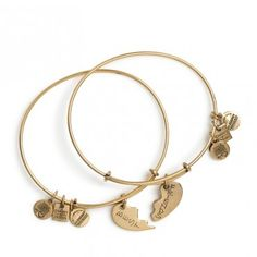 Best Friends Set of 2 Charm Bangles from @Alex and Ani. 20% of all sales of the Best Friends Bangles goes to the American Heart Association.