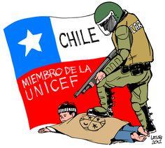 carabineros | Latuff Cartoons Political Posters, Political Cartoons, Social Art, Punk, Love Art, The Beatles, Politics, Memes, Fictional Characters