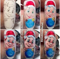diamond_nails_demekhina Here s another cute little pig