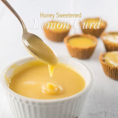 This Honey Sweetened Lemon Curd is a Paleo twist on the classic British dessert spread. It is so easy to make and is delicious as a filling for grain free tarts!  2 large eggs; 2 egg yolks; ¼ cup raw honey, (melted if solid); ½ cup fresh lemon juice; 6 Tbs coconut oil, or grass fed butter, (melted); 1 tsp lemon zest; ⅛ tsp fine grain sea salt; ½ tps pure vanilla extract
