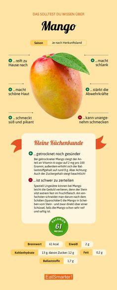 Das solltest du über Mango wissen | eatsmarter.de #mango #infografik #ernährung