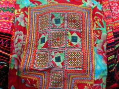 Embroidered textiles. Chang Mai, Thailand. Gemma Lofthouse ©