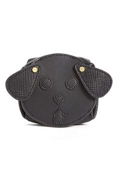 Women's Opening Ceremony 'Dog' smooth leather coin purse
