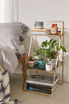 Like this bedside table idea