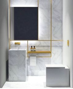 Luxury Bathroom Master Baths Bathtubs is definitely important for your home. Whether you choose the Luxury Bathroom Master Baths Beautiful or Luxury Master Bathroom Ideas, you will create the best Small Bathroom Decorating Ideas for your own life. Interior Design Dubai, Commercial Interior Design, Bathroom Interior Design, Marble Interior, Modern Marble Bathroom, Minimalist Bathroom, Bathroom Yellow, Carrara Marble Bathroom, Marble Wall
