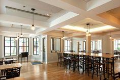 "Acoustic Sciences Corporation - coffered ceiling study in restaurants; 4x4 grid with a 6"" beam"