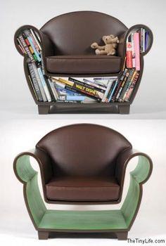 Awesome design! -Bookshelf arm chair