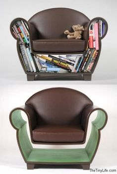 Awesome design -Bookshelf arm chair