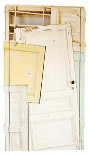 Cabinet - made from old doors and cabinets giving them a new life as one big new cabinet. By Chris Ruhe