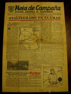 Antigua Hoja de campaña de la División Azul nº 40 - 2 DE SEPTIEMBRE DE 1942 - Periódico editado en e (Militar - Revistas y Periódicos Milita...