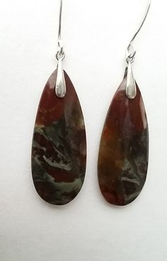 Hey, I found this really awesome Etsy listing at https://www.etsy.com/listing/478490125/jasper-sterling-silver-earrings