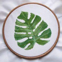 cross stitch pattern pdf plant embroidery pdf tropical cross