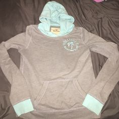 Gray & baby blue sweater Gray/baby blue soft sweater Hollister Sweaters