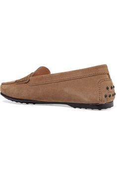 Tod's - Gommino Suede Loafers - Beige - IT41.5
