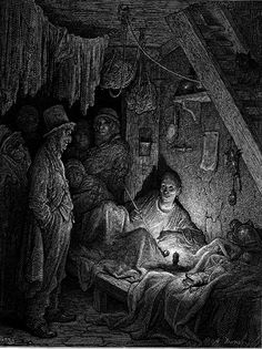 "Opium Smoking: The Lascar's Room in ""Edwin Drood"" by Gustave Dore', 1872"
