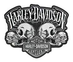 a8a0359301978 Harley-Davidson® Skull Text Bar   Shield Embroider Emblem