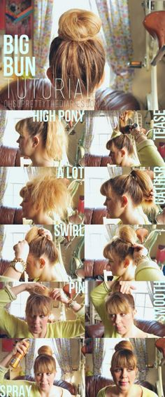 Now THIS is a tutorial!! Stunning big bun!
