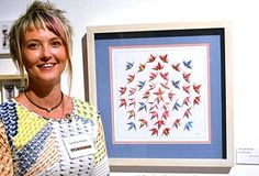 Origami Artist - Caroline Preston:  Gifts for weddings, anniversaries, births and other special occasions with personalised text. The origami crane is a symbol of peace, love & loyalty.