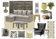 Yellow & Gray living room for UNDER $1200