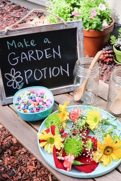 Garden Theme Learning Activities and Learning Shelf - Happy Tot Shelf - Educational - Outdoor sensory learning activity – make a garden potion! Fun way for kids to learn with nature # - Forest School Activities, Eyfs Activities, Nature Activities, Outdoor Activities For Kids, Outdoor Learning, Spring Activities, Fun Learning, Toddler Activities, Outdoor Education