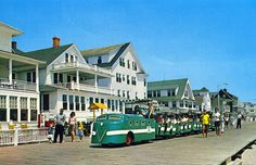 The boardwalk trams still run along our boardwalk, but don't look like this anymore! Ocean City, MD #ocmd