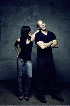 Fast and Furious Michelle and Vin ... screaming at how great this picture is