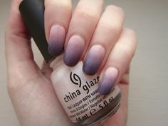 ombre nails, pink, lilac, violet, nail art tutorial
