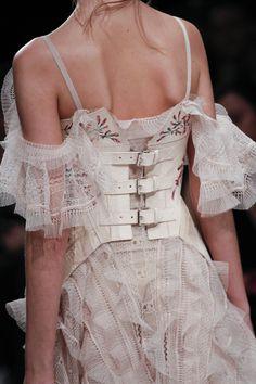 Details from Alexander McQueen Fall 2016. London Fashion Week.