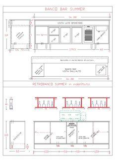 Bancone bar misure cerca con google bancone pinterest for Archweb cucina
